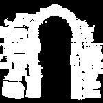Portale in pietra a vista con arco a tutto sestose