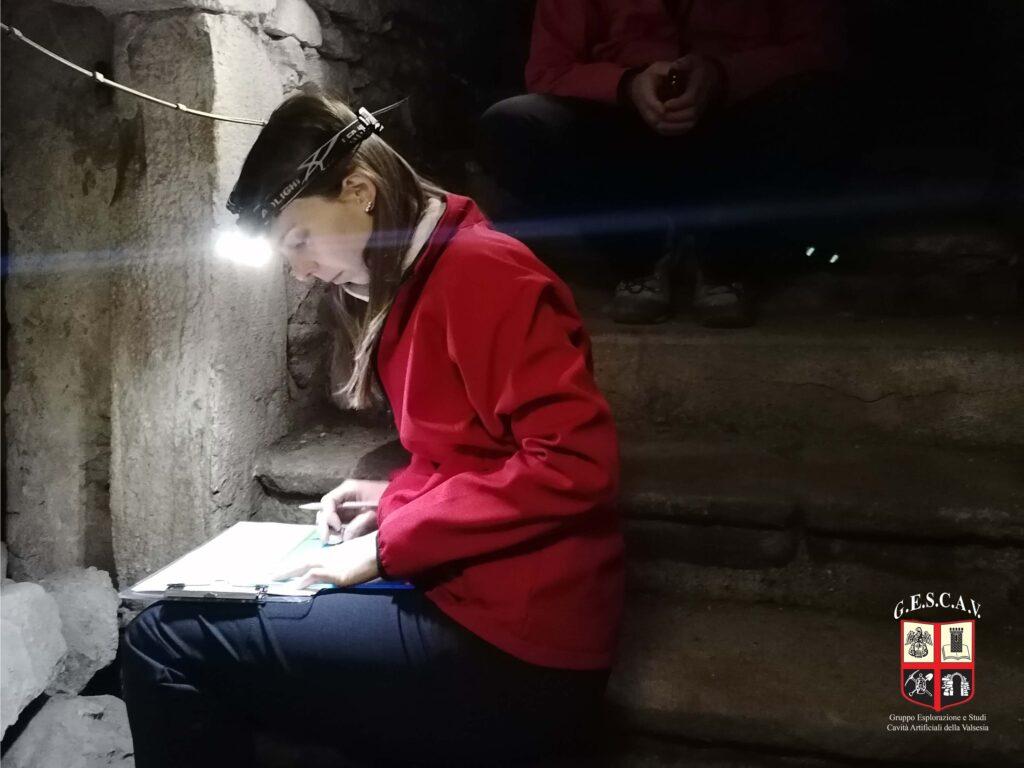 Il rilievo dei sotterranei di Palazzo Scarognini-D'Adda